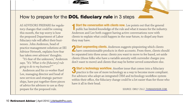 How to prepare for the DOL fiduciary Rule
